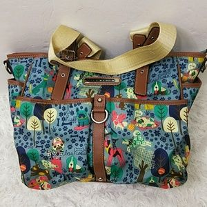 "Lily Bloom ""Who Let the Dogs Out"" Large Tote Bag"